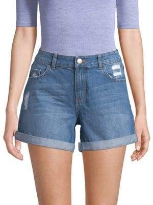 Dorothy Perkins Distressed Foldover Denim Shorts