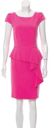 Emilio Pucci Peplum Wool Dress w/ Tags Pink Peplum Wool Dress w/ Tags