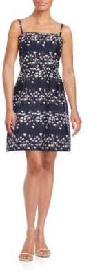 Vera Wang Strapless Floral Dress