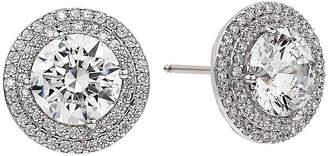 FINE JEWELRY White Cubic Zirconia Sterling Silver 13mm Stud Earrings
