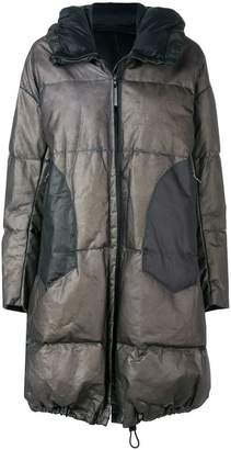 Isaac Sellam Experience hooded leather puffer coat
