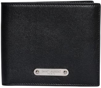 Logo Plaque Leather Classic Wallet $385 thestylecure.com