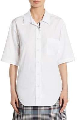 Thom Browne Polo Collar Blouse