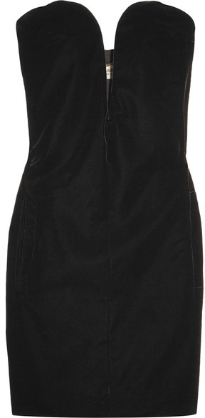 Saint Laurent Saint Laurent - Velvet Mini Dress - Black
