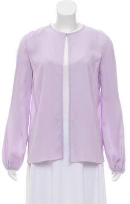 Longchamp Long Sleeve Crepe Top
