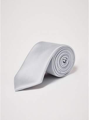 Topman Mens Grey Plain Gray Tie