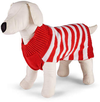 Macy's Family Pajamas Matching Holiday Stripe Pet Sweater Created for