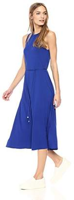 Three Dots Women's Refined Jersey Trapeze Long Loose Dress
