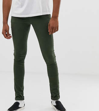 Asos DESIGN Tall super skinny jeans in green