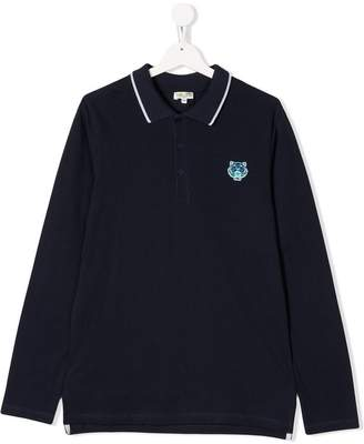 Kenzo TEEN Tiger patch polo shirt