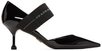 Prada Black Patent DOrsay Heels