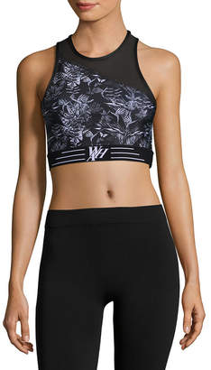 We Are Handsome Palm And Mesh Panel Sport Bra