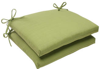 Pillow Perfect Forsyth Kiwi Squared Corners Seat Cushion, Set of 2