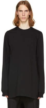 Rick Owens Black Crewneck Sweatshirt