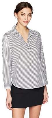 Velvet by Graham & Spencer Women's Idona Stripe Popover Shirt