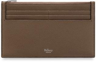 Mulberry Travel Card Holder Clay Cross Grain Leather