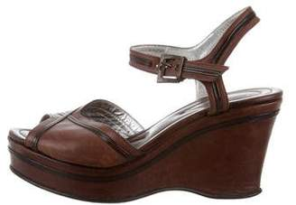 Free Lance Freelance Leather Wedge Sandals