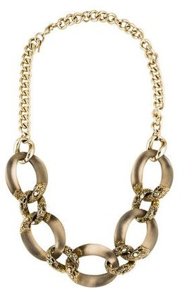 Alexis Bittar Neo Boho Lucite Link Chain Necklace $145 thestylecure.com