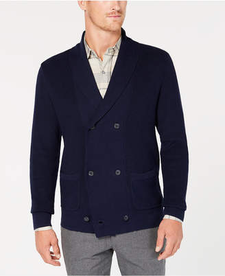 Tasso Elba Men's Double Breasted Supima Cotton Cardigan