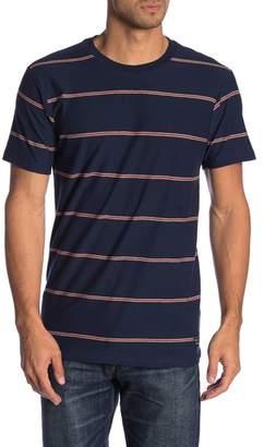 Billabong Short Sleeve Stripe Print Tailored Fit Tee