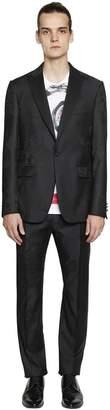 Etro Rose Jacquard Grain De Poudre Wool Suit
