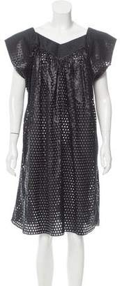 Jean Paul Gaultier Perforated Silk-Blend Dress