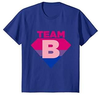 Team B Bisexual Symbol T-Shirt - Bi Sexual Flag Sign Tee