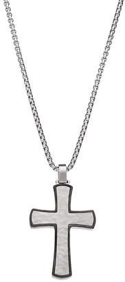 Lynx LYNXMen's Stainless Steel Cross Pendant Necklace