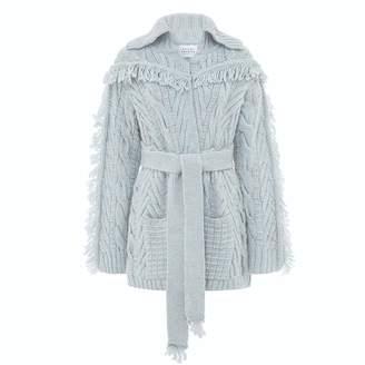 Hayley Menzies - Short Etta Cardi-Coat Ice Blue