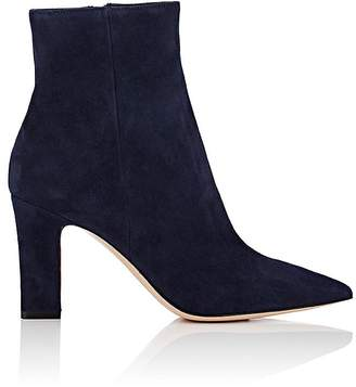 Gianvito Rossi Women's Pointed-Toe Suede Ankle Boots