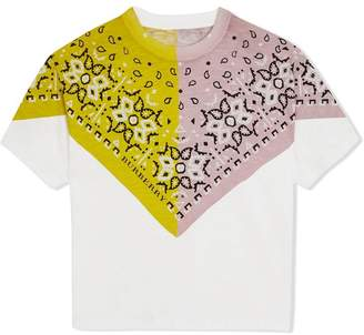 Burberry TEEN Bandana Print Cotton T-shirt