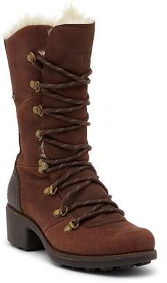 Merrell Chateau Tall Faux Fur Trimmed Lace-Up Waterproof Boot
