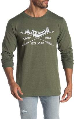 Fifth Sun Camp Hike Graphic Print Long Sleeve T-Shirt
