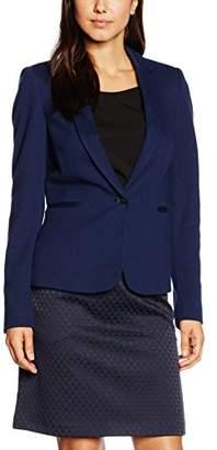 Esprit Women's aus weicher Jersey-Ware Blazer, Blue (NAVY 02)