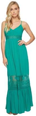 BB Dakota Kaia Midi Dress with Stripe Lace Insets Women's Dress