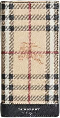 Burberry Haymarket check continental wallet