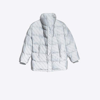 Balenciaga Oversize puffer jacket with large collar