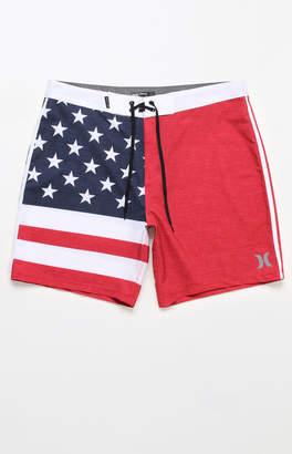 "Hurley USA Stars & Stripes 18"" Boardshorts"