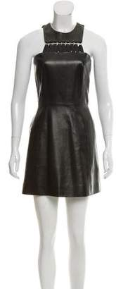 Thierry Mugler Leather Mini Dress