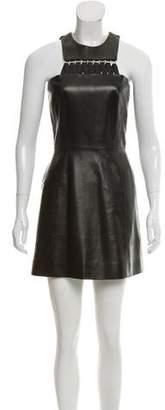 Thierry Mugler Leather Mini Dress