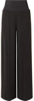 Elizabeth and James Ansley Crepe Wide-leg Pants - Black