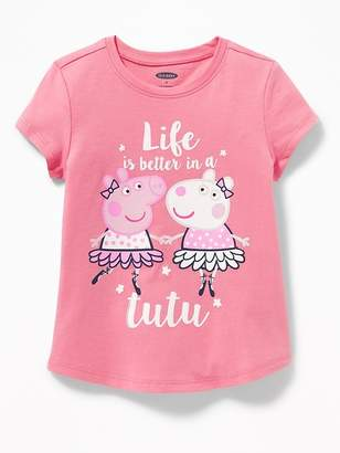 "Old Navy Peppa Pig ""Life Is Better in A Tutu"" Tee for Toddler Girls"