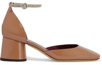 Marc Jacobs - Lena Patent-leather Pumps - Beige $450 thestylecure.com