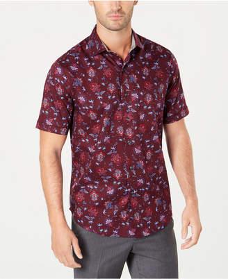 Tasso Elba Men Textured Floral Shirt