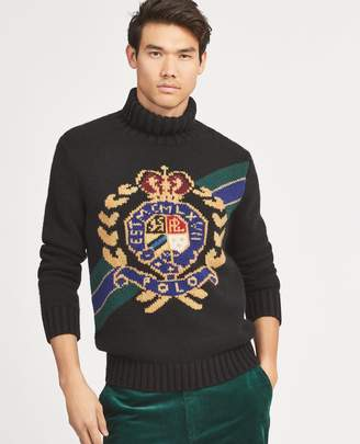 Ralph Lauren Crest Wool Turtleneck Sweater