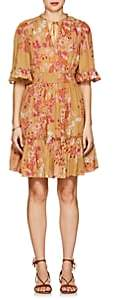 By Ti Mo byTiMo Women's Floral Cotton-Blend A-Line Dress - Orange