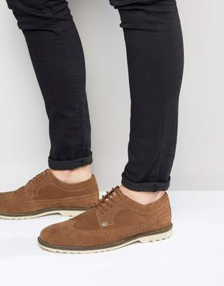 Original Penguin Brogues In Tan Suede