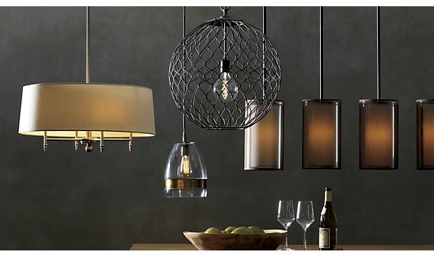 Crate & Barrel Morela Glass Pendant Light