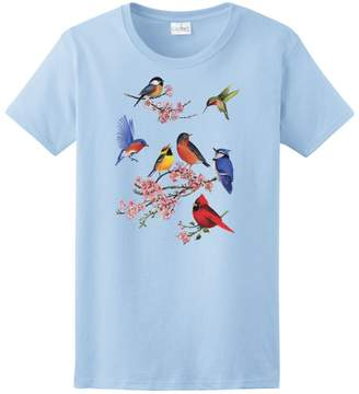 Express Yourself Shirts Yourself Ladies Songbirds of America Tee ( - Ladies XL)