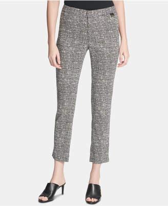 Calvin Klein Grid-Print Cropped Pants